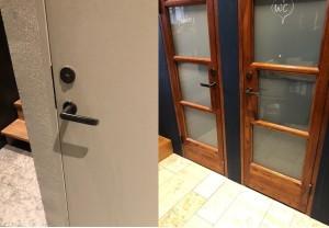 Le maniglie LUND montate sulle porte interne del Portal Bar di Stoccolma
