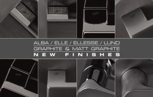 Finitura Grafite per le maniglie Colombo Design