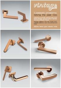 Finitura Vintage per le maniglie Colombo Design